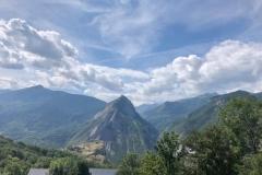 Von der Passhöhe wunderbarer Blick auf die benachbarten Gipfel